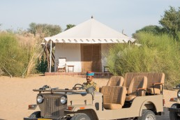 Samsara Desert Camp, India - Between Beds